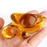 In het groot Hand - gemaakt Kristal het Gouden Model van de Baar, de de Gouden Baar van het Kristal & Ambachten van het Kristal