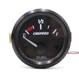 Sc101147 52mm de coche de carreras de nivel de combustible Auto Manómetro indicador de LED blanco.