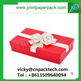 De maat Hete het Stempelen Doos van de Gift van het Karton van de Bloem van de Ring van Juwelen Kosmetische met Bowknot