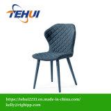 Cadeiras laterais de jantar elegante moderna cozinha tecido de cor diferente por grosso