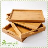 Pays d'aliments en bois de Bambou rustique servant le bac pour utilisation à domicile de l'hôtel plaque du plateau de Bambo