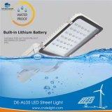 Delight Batterie au lithium intégrée de la lumière solaire lampe LED d'éclairage de rue