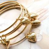 Gold überzogene Rosen-Blumen-Inner-Charme-Armband-Armbänder eingestellt