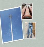 원거리 통신의 생활 시간 30 년 이상의 철사 돛대 강철 Monopole 안테나 탑