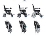 Sillón de ruedas eléctrico del E-Trono de oro del motor, Powerwheelchair, plegamiento y plegable para los minusválidos