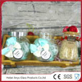 Venta al por mayor personalizada Candy Glass Jar con tapa y paja