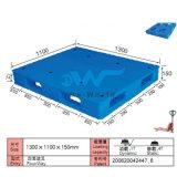 De vlakke Plastic Pallet dw-1311b2 van de dwars-Basis van de Oppervlakte