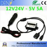12V 24V al convertitore di CC di CC del USB di 5V 5A 25W