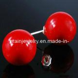 Concha Roja moda Pearl Pendientes Pendientes adornos Bisutería de moda Jewelleries pendientes (PE-042)