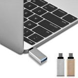 Tipo-c 2017 al aluminio del adaptador del USB 3.0 para la galaxia S8 de Samsung
