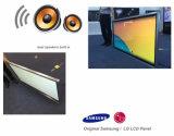 65 pulgadas que hacen publicidad del quiosco montado en la pared del monitor de la pantalla táctil del indicador digital del panel del LCD
