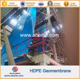 Green White HDPE dos lados lisos HDPE Geomembrana