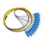 Tresse de fibre optique de sortance de faisceau du connecteur 12 de Sc