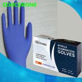 De beschikbare Handschoenen van het Onderzoek van het Nitril (geweven Vingertop)