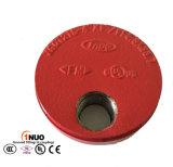 FM/UL/Ce Approval Ductile Iron Cap con Eccentric Hole