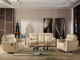 Sofá da sala de visitas com o sofá moderno do couro genuíno ajustado (749)