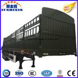 Reboque da carga da cerca da fonte da fábrica com painel lateral e rebanhos animais
