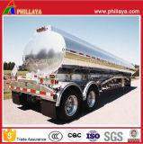 Tanque de alumínio semi-tanque Semi-reboque da China para armazenamento de óleo / água comestível