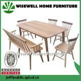 Mesa de jantar de carvalho com 4 cadeiras de madeira