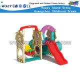 Cour de jeu en plastique de glissière de combinaison de gosses petite à vendre (Hc-16505