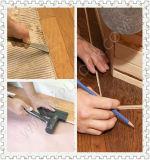 Acabamento escovado de arame, revestimento de madeira engarrafada de cor manchada de óleo