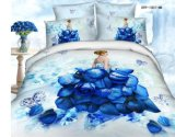 3D New Scenery Bedding Set, Reactive Rotary Printed