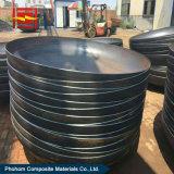 Acero inoxidable con revestimiento de acero al carbono cabeza elipsoidal para recipientes a presión / intercambiador de calor