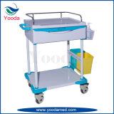 Chariot médical en plastique de soins d'hôpital avec un tiroir
