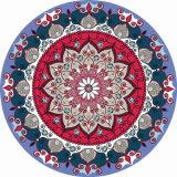 Stuoia rotonda di yoga della gomma naturale della stampa della mandala