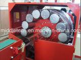 연약한 PVC/PVC 기계를 만드는 섬유에 의하여 땋아지는 강화된 관 밀어남