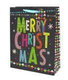 Sacs-cadeaux de Noël, kraft sacs-cadeaux de Noël avec Poignée Torsadée, sac de papier, sac de cadeaux