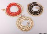 Cinghia di cuoio Chain Glaring dorata per gli accessori di modo delle signore