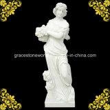 Haut de la qualité de la saison quatre Dieu statue en marbre blanc avec Hunan