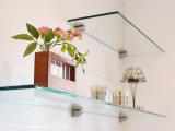 vidrio Tempered del estante rectangular de 6m m con los bordes Polished planos