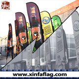 주문을 받아서 만들어진 디자인 기털 깃발 또는 눈물방울 깃발 또는 바람 깃발