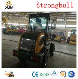 Cargador Earthmoving de la rueda de Strongbull Zl12 de la maquinaria con el barrendero