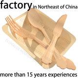 Plaques jetables en bois rond, plaque de bois jetable pour restaurant