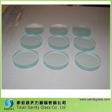 2mm 3.2mm 4mm Vidro Temperado Borda Polida Toughened Round Clear Float Glass Sheet Painel para Iluminação