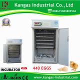 Le ce a certifié l'incubateur complètement automatique de volaille d'utilisation de ferme (440 oeufs)