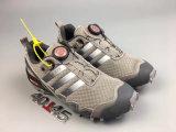 Zapatos de los hombres auténticos maratón al aire libre fuera de la carretera Zapatos de amortiguación de los zapatos corrientes