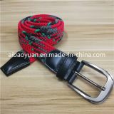 Flache Faltenbildung-roter und grüner elastischer umsponnener Riemen