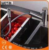 Матовый никель PVD готовой вытянуть кухня под струей горячей воды