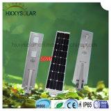 Energia LED tutto in un indicatore luminoso di via solare esterno con il sensore 50W di PIR