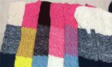 Colorido Estilo longo de mulheres sem mangas Suéter Cardigan