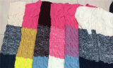 Lange Art-Sleeveless Wolljacke-Strickjacke der bunten Frauen