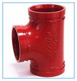 FM/UL/CE a approuvé la fonte ductile Tee rainuré