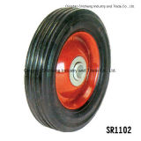 """고품질 6 """" X1.5 """" 단단한 고무 바퀴"""