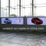 Insegna di alluminio della casella chiara di tensionamento della bandiera del treno ad alta velocità di media di pubblicità del LED