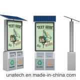 Do quadro de avisos solar público do desdobramento do caixote de lixo do frame do metal do anúncio ao ar livre caixa leve dos media do diodo emissor de luz