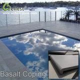 L'alta qualità smerigliatrice la piscina Bullnose del basalto grigio Finished che fa fronte